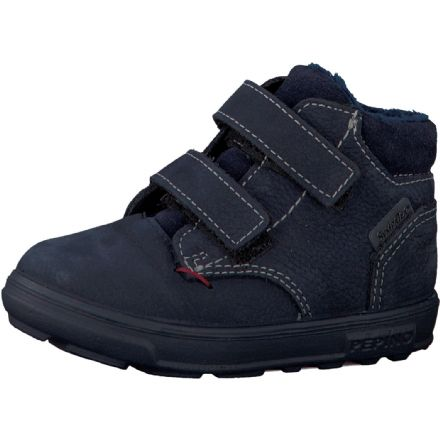 Ricosta ALEX Waterproof Leather Ankle Boots (Navy) - Widefit